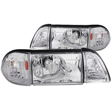 AnzoUSA 121195 Crystal Headlights Chrome with Corner Lights 2pc