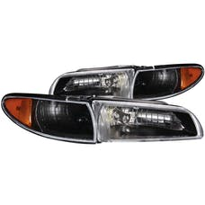 AnzoUSA 121201 Crystal Headlights Black