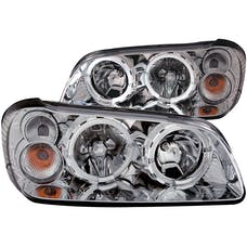 AnzoUSA 121202 Crystal Headlights with Halo Chrome