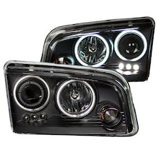 AnzoUSA 121218 Projector Headlights with Halo Chrome (SMD LED)