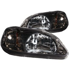 AnzoUSA 121234 Crystal Headlights Gun-Metal Gray