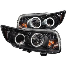 AnzoUSA 121280 Projector Headlights with Halo Black