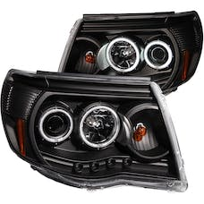 AnzoUSA 121282 Projector Headlights with Halo Black