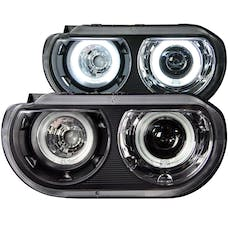 AnzoUSA 121306 Projector Headlights with Halo Black (SMD LED) (HID Compatible)