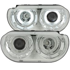 AnzoUSA 121307 Projector Headlights with Halo Chrome (SMD LED)