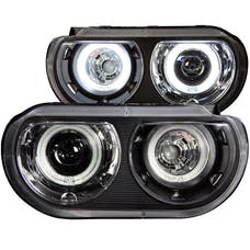 AnzoUSA 121308 Projector Headlights with Halo Black (SMD LED)