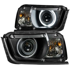 AnzoUSA 121312 Projector Headlights with Halo Black (SMD LED)