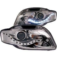 AnzoUSA 121317 Projector Headlights Chrome (R8 LED Style)