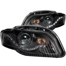 AnzoUSA 121318 Projector Headlights Black (R8 LED Style)