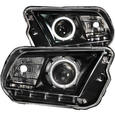 AnzoUSA 121323 Projector Headlights with Halo Black (SMD LED)