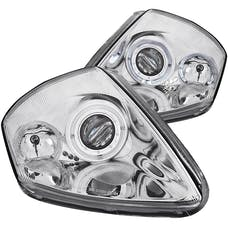 AnzoUSA 121331 Projector Headlights with Halo Chrome