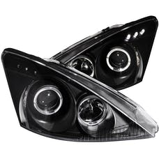 AnzoUSA 121333 Projector Headlights with Halo Black with LED