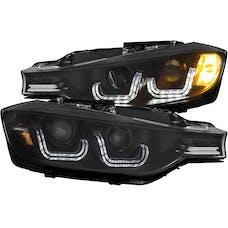 AnzoUSA 121504 Projector Headlights with U-Bar Black