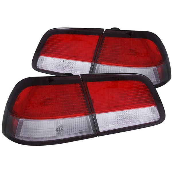 AnzoUSA 221136 Taillights Red/Clear 4pc