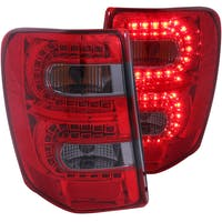 AnzoUSA 311180 Jeep Grand Cherokee LED Taillights Red/Smoke
