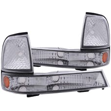AnzoUSA 511003 Euro Parking Lights Chrome with Amber Reflector