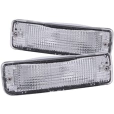 AnzoUSA 511019 Euro Parking Lights Chrome with Amber Reflector