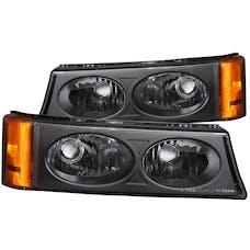 AnzoUSA 511036 Euro Parking Lights Black