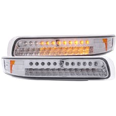 AnzoUSA 511054 LED Parking Lights Chrome with Amber Reflector