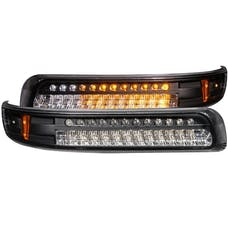 AnzoUSA 511055 LED Parking Lights Black with Amber Reflector