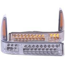 AnzoUSA 511056 LED Parking Lights Chrome with Amber Reflector