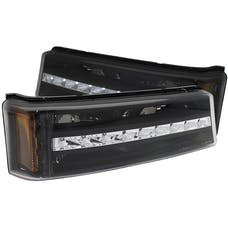 AnzoUSA 511067 LED Parking Lights Black with Amber Reflector