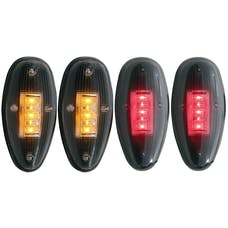 AnzoUSA 861080 LED Fender Light Kit Smoke 2pc Amber / 2pc Red