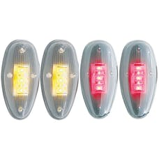 AnzoUSA 861081 LED Fender Light Kit Clear 2pc Amber / 2pc Red
