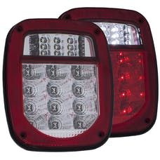 AnzoUSA 861082 LED 2 Lens - Red/Clear, Chrome