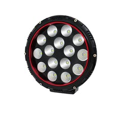 "AnzoUSA 861182 8"" Round LED Light (Red Bezel) (white)"