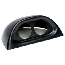 AutoMeter Products 10001 Dual Gauge Dash Pod 2 1/16 in. Mount On Top Of Stock Dash Black