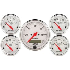 AutoMeter Products 1302 5 Pc. Kit Artic White (Electric Speedo)