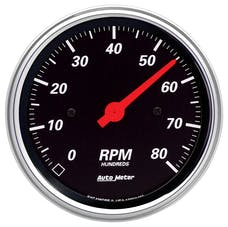 AutoMeter Products 1490 GAUGE; TACHOMETER; 3 3/8in.; 8K RPM; IN-DASH; DESIGNER BLACK