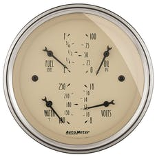 AutoMeter Products 1814 Gauge; Quad; 3 3/8in.; 0OE-90OF; Elec; Antique Beige