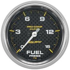 "AutoMeter Products 200849-40 Fuel Pressure Gauge, Marine Carbon Fiber 2 5/8"", 15PSI, Digital Stepper Mot"