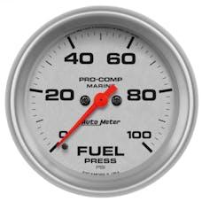 "AutoMeter Products 200851-33 Fuel Pressure Gauge, Marine Silver  2 5/8"", 100PSI Digital Stepper Motor"