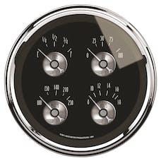 AutoMeter Products 2011 Gauge; Quad; 5in.; 240OE-33OF; Elec; Prestige Blk. Diamond