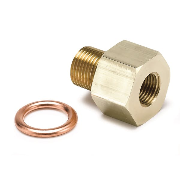 AutoMeter Products 2266 FITTING; ADAPTER; METRIC; M12X1 MALE TO 1/8in. NPTF FEMALE; BRASS