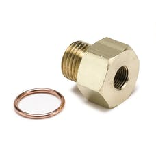 AutoMeter Products 2268 FITTING; ADAPTER; METRIC; M16X1.5 MALE TO 1/8in. NPTF FEMALE; BRASS