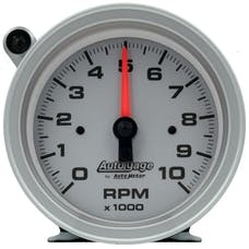 "AutoMeter Products 233909 Gauge Tachometer 3 3/4"", 10K RPM, Pedestal with Ext Shift Light, Silver Dial"