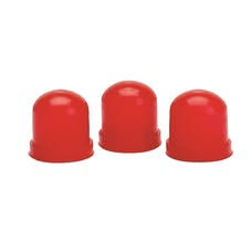 AutoMeter Products 3214 LIGHT BULB BOOTS; RED; QTY. 3