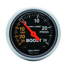 AutoMeter Products 3303 GAUGE; VAC/BOOST; 2 1/16in.; 30INHG-30PSI; MECHANICAL; SPORT-COMP
