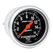 AutoMeter Products 3344 Gauge; Pyrometer (EGT); 2 1/16in.; 1600deg.F; Digital Stepper Motor; Sport-Comp