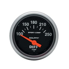 AutoMeter Products 3349 Gauge; Differential Temp; 2 1/16in.; 100-250deg.F; Electric; Sport-Comp