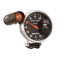 AutoMeter Products 3905 Gauge; Tachometer; 5in.; 8k RPM; Pedestal w/ext. Shift-Lite; Sport-Comp