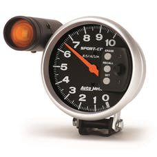 AutoMeter Products 3906 Tach W/Shift-Light & Memory  10 000 Rpm