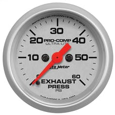 """AutoMeter Products 4392 2-1/16"""" Exhaust Pressure 0-60 psi, FSE, Ultra-Lite"""