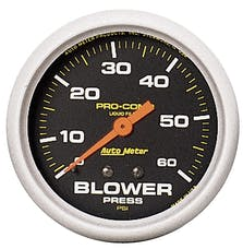 AutoMeter Products 5402 Blower Press  0-60 PSI