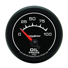 AutoMeter Products 5927 2-1/16in Oil Pressure 0-100 PSI Short Sweep  Electric