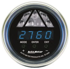 AutoMeter Products 6187 GAUGE; SHIFT LIGHT; DIGITAL RPM W/BLUE LED LIGHT; DPSS LEVEL 1; COBALT